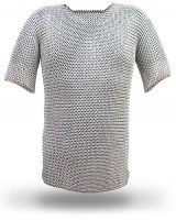 Flat Riveted Chainmail Shirt Chain Mail XXL SIZE CFRR07