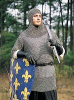 Riveted Aluminum Chainmail Hauberk